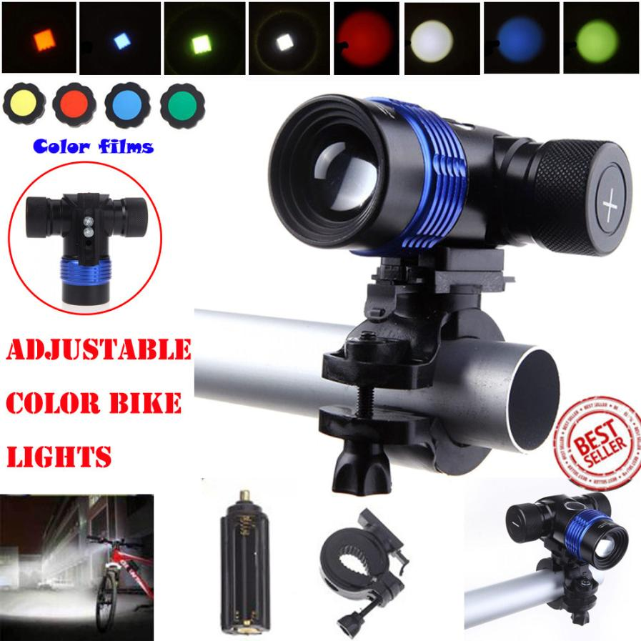 XML T6 LED 3Modes 18650 Charger Battery Bicycle Bike Head Light Torch Flashlight Waterproof Removable Bracket Front Light P40 cree xml t6 4000lm led flashlight 5 mode zoomable led torch waterproof torch lights bike light for aaa or 18650 battery