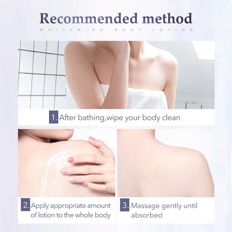 280ml Body Whitening Body Lotion Bleaching Bodys Cream Moisturizing Dark Skin Care Remove Improve Lightening Skin Care 1