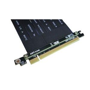 Image 4 - PCI E X16 כדי 16X 3.0 זכר לנקבה Riser כבל מאריך כרטיס מסך מחשב PC Chasis PCI Express Extender סרט 128G/Bps