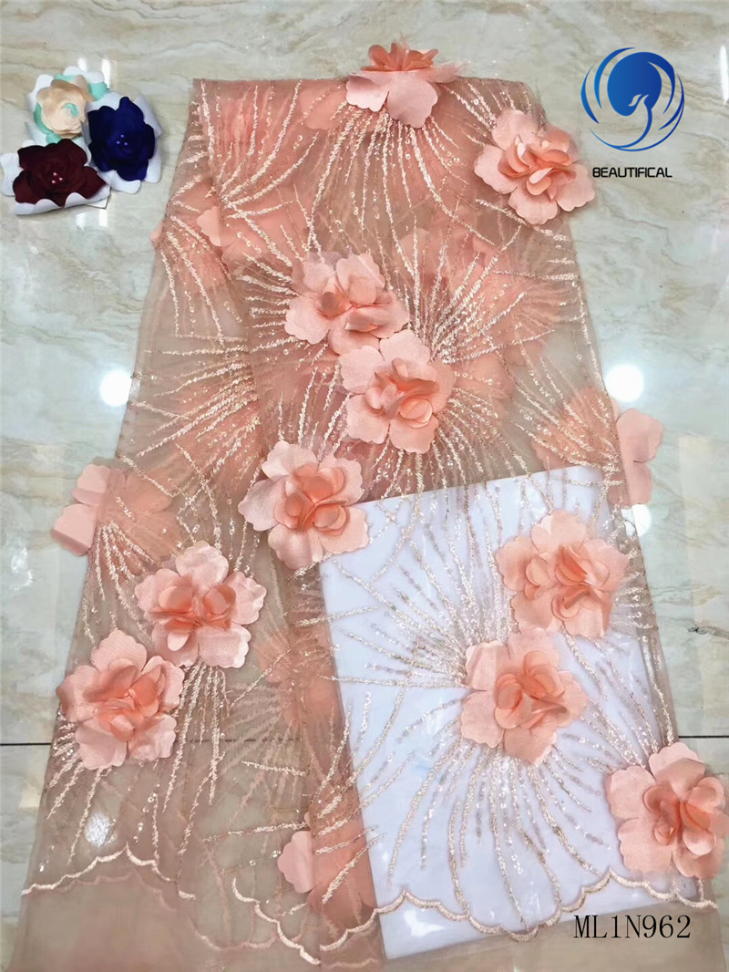 BEAUTIFICAL African 3d Lace Tulle Flower Embroidery French 3d Lace Fabric ML1N962BEAUTIFICAL African 3d Lace Tulle Flower Embroidery French 3d Lace Fabric ML1N962