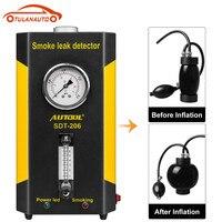TULANAUTO SDT206 12 в автомобильный детектор утечки трубопровода машина дыма Автомобильная труба для авто Курки утечки генератор вход воздушный ме...