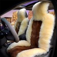 KAWOSEN универсальный чистый натуральный кожи собака шерсть сиденья, 100% кожа собаки зима автомобиля подушки, 5 мест всего транспортного средст