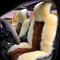 Universal Tampa de Assento de Lã Lobo Pele Natural Puro, 100% Lobo skinWinter Coxim Do Carro, 5 Assentos de Toda a Cobertura Do Veículo, WSCS02