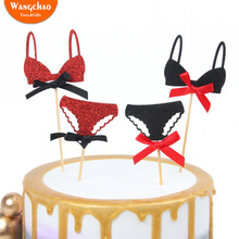 Hot Sale Bikini Cake Topper Bachelor Party Supplies Happy Birthday Cake Topper for Party Decoration Dessert Lovely Gifts lovely sika deer cake topper cake decoration party wedding dessert decoration home decor miniature terrarium figurines ornaments