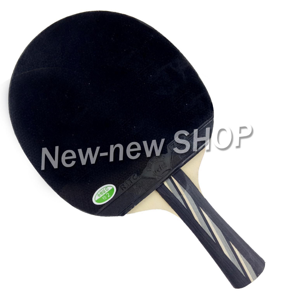 729 2040# Pips-In Table Tennis Ping Pong Racket + a Paddle Bag Shakehand long handle FL