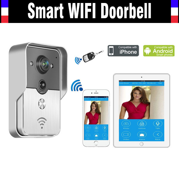 Smart Wifi Wireless Doorbell Intercom Video Door Phone  WIFI Camera Viewer remote unlock intercom for IOS Android phone Tablet 7inch 2 4ghz wireless intercom unlock video door phone with 3camera