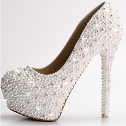 Popular Diamond White Bridal Shoes-Buy Cheap Diamond White Bridal ...