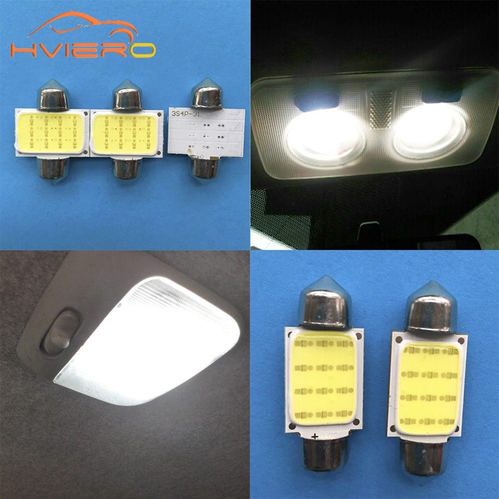 20x White Car 39MM Festoon Light Dashboard Dash Blub 16 1210 SMD LED 40mm I207