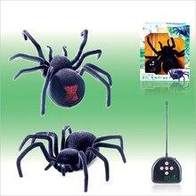 Очень крутой пульт дистанционного управления глаза блеск паук 4 канала Хэллоуин моделирование паук RC с подвохом страшный игрушечный шалость Подарочная модель