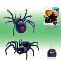 Very Cool Remote Control Eyes Shine Spider 4 Channel Halloween Simulation Spider RC Tricky Scary Toy Prank Gift Model