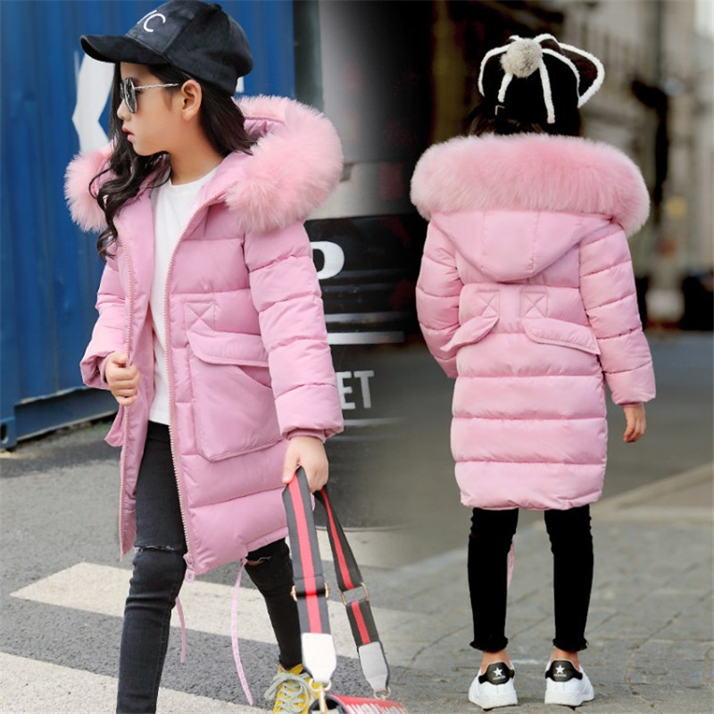 Child wadded jacket kids outerwear cotton-padded thicken children clothing winter jackets for girls 8 years warm coat clothes