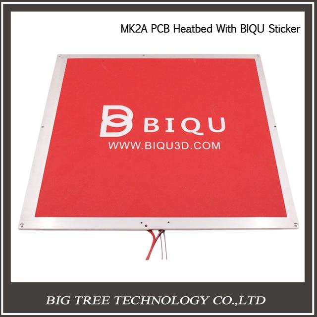 300*300*2mm PCB MK2A Scalar avec Câble et Résistance MK2A Noir Lit Chauffant + 300 * 300mm Bâton Rouge 3D0334 + 3D0298
