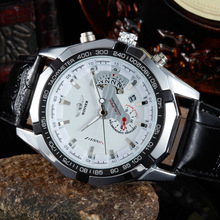 Fashion Men's Automatic Mechanical Watch Leather Belt Calendar Complicated Watches LXH