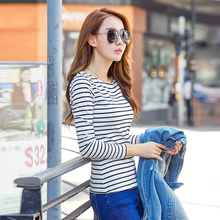Stripped Casual T-Shirts Top Cotton Ez025