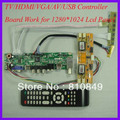 TV/HDMI/VGA/AV/USB/AUDIO LCD trabalho Placa controladora para 1280x1024 4 Painel lcd CCFL
