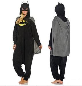 Image 2 - ملابس نوم Kigurumi للكبار مطبوع عليها رسوم كرتونية على شكل باتمان ملابس نوم نيسيي للجنسين ملابس نوم على شكل حيوانات ملابس نوم بدلة نوم للحفلات