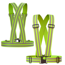 2 Packs Reflective vest provides high visibility day and night motorcycle jacket, cycling and running