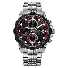 Luxury brand men'swatchesmulti function sport quartz wristwatch fashion Luxury luminous timer clock waterproof 100m CASIMA #8306