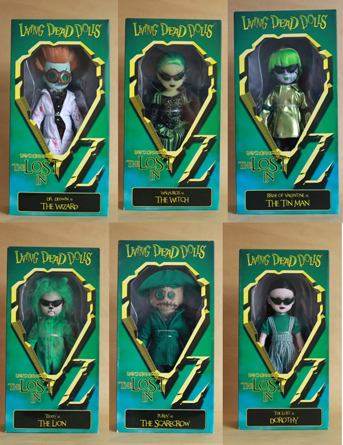 Hot Sale Scarecrow Wizard Dorothy  Living Dead Dolls The Lost In Oz Tin Man Lion Witch Action Figure Dolls Best For ChildHot Sale Scarecrow Wizard Dorothy  Living Dead Dolls The Lost In Oz Tin Man Lion Witch Action Figure Dolls Best For Child