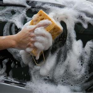 Image 5 - Esponja de limpieza de coche panal grande esponja macro porosa motocicleta cepillo lavadora camión SUV Auto cuidado del coche herramienta de limpieza Accesorios