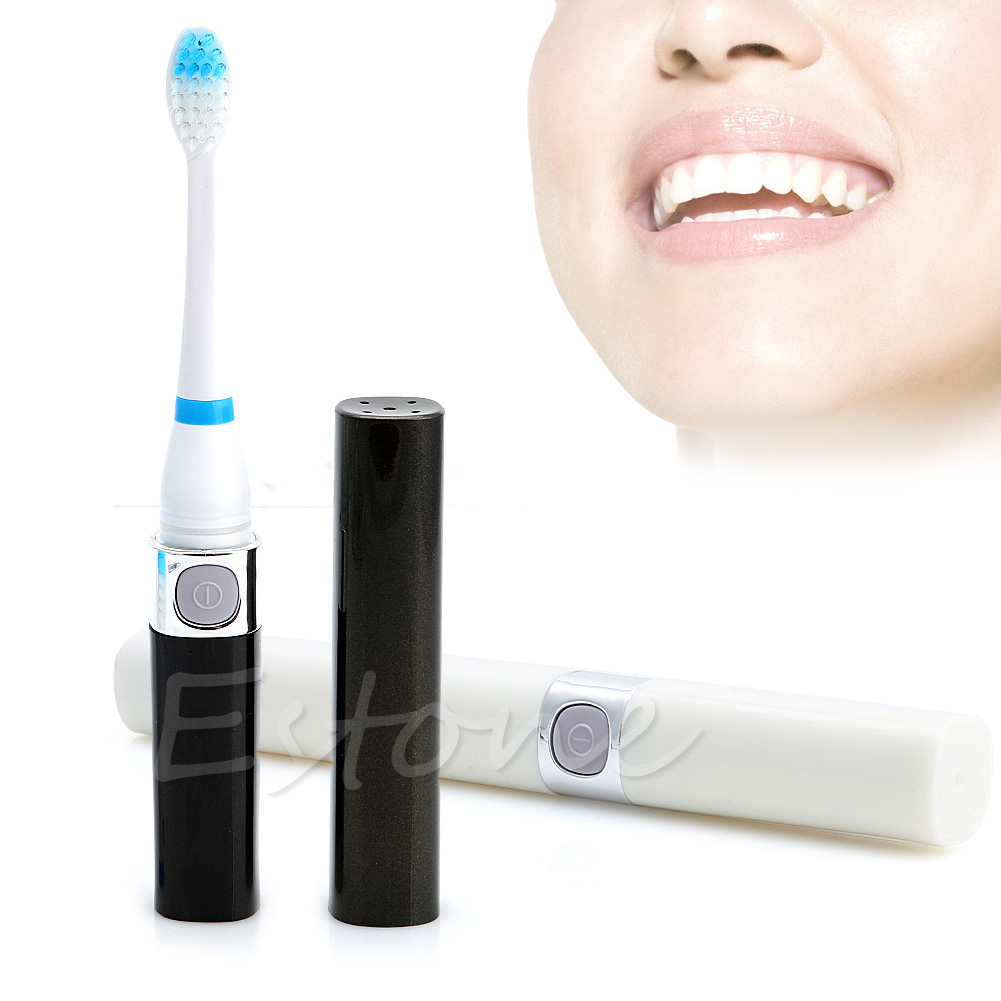 Sonic Electric Tooth Massager Clean Cleaner Toothbrush with 3 Brush Heads AAA 2pcs philips sonicare replacement e series electric toothbrush head with cap