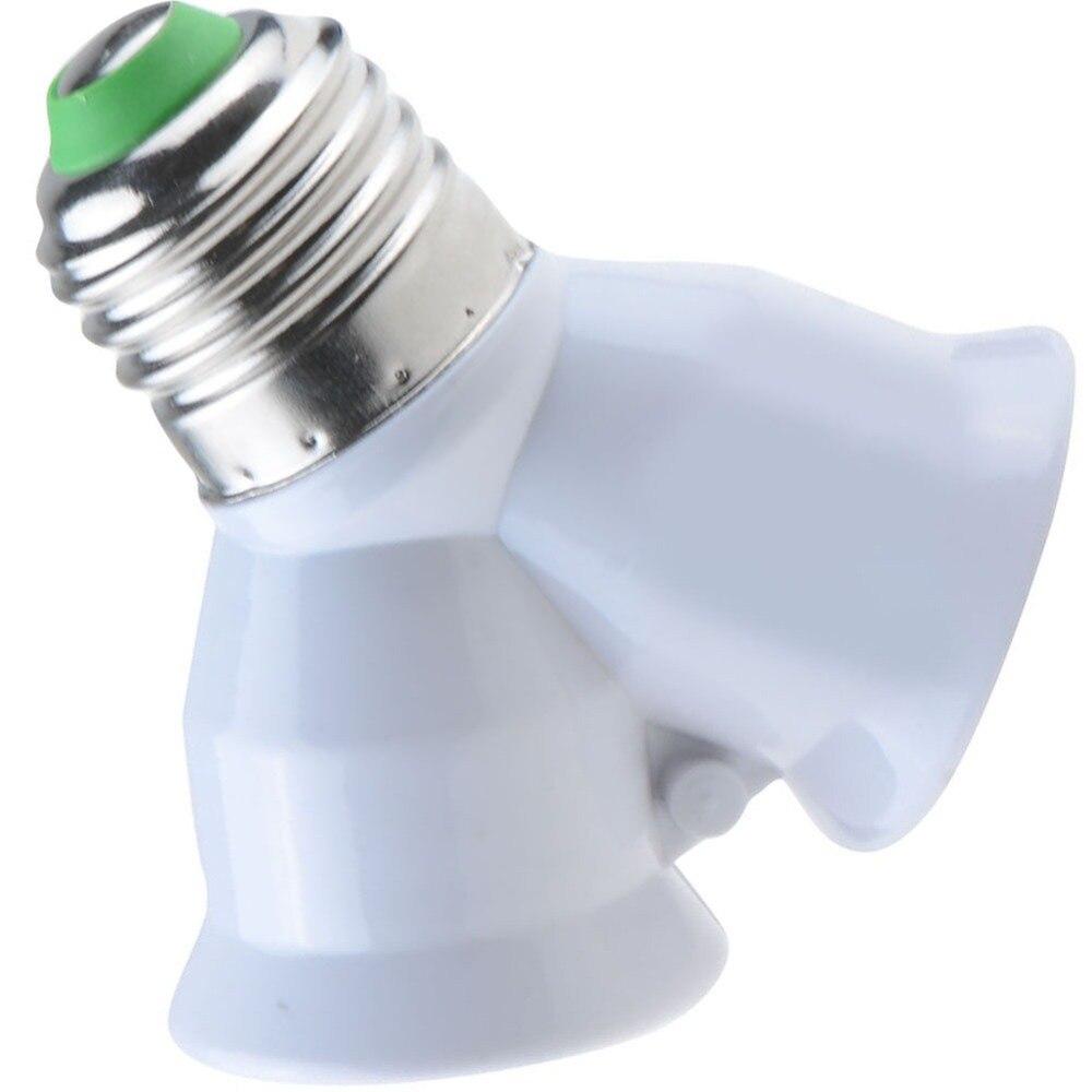 1 шт. E27 в 2xE27 1-2 Y Форма LED галогенная CFL лампа базовый разделитель света для ламп сплит-адаптер конвертер Разъем расширения VED65 P