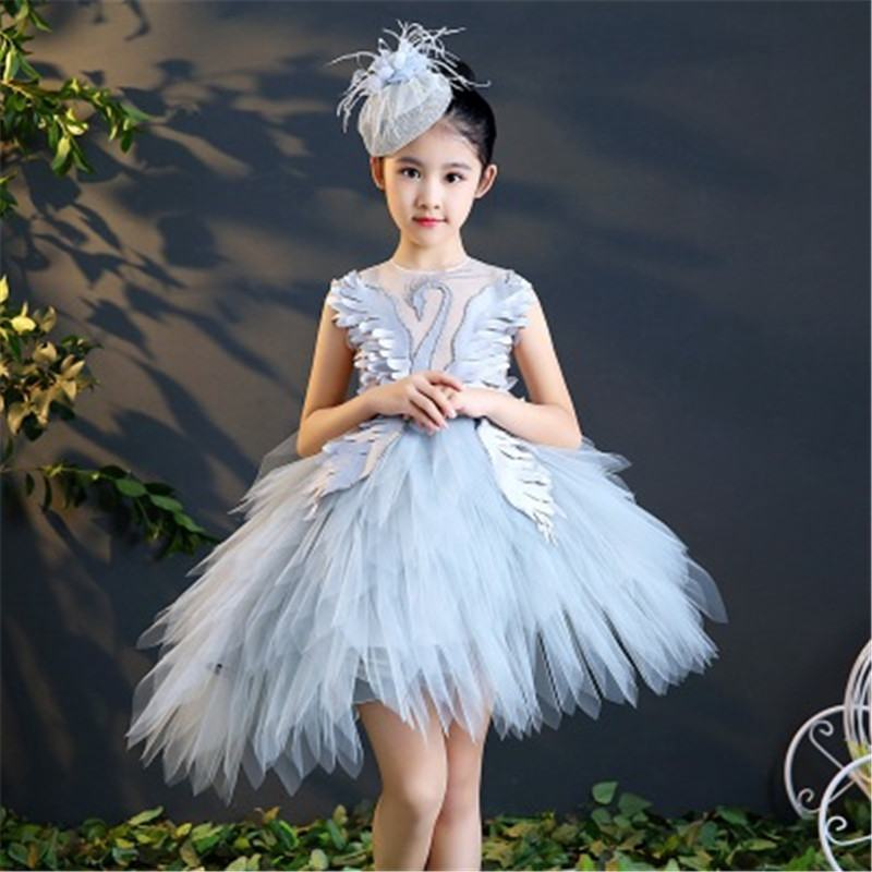 2019 Children Girl Lace Embroidery Tutu Princess Dress Kids Dresses For Girls Evening Party Baby Girl Dress Clothes Vestido L206