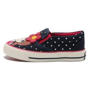 Image 4 - Girls Canvas Shoes 2020 New Spring Children Flats Polka Dot Fashion Kids Sneakers Denim Girls Princess Shoes Casual Footwear