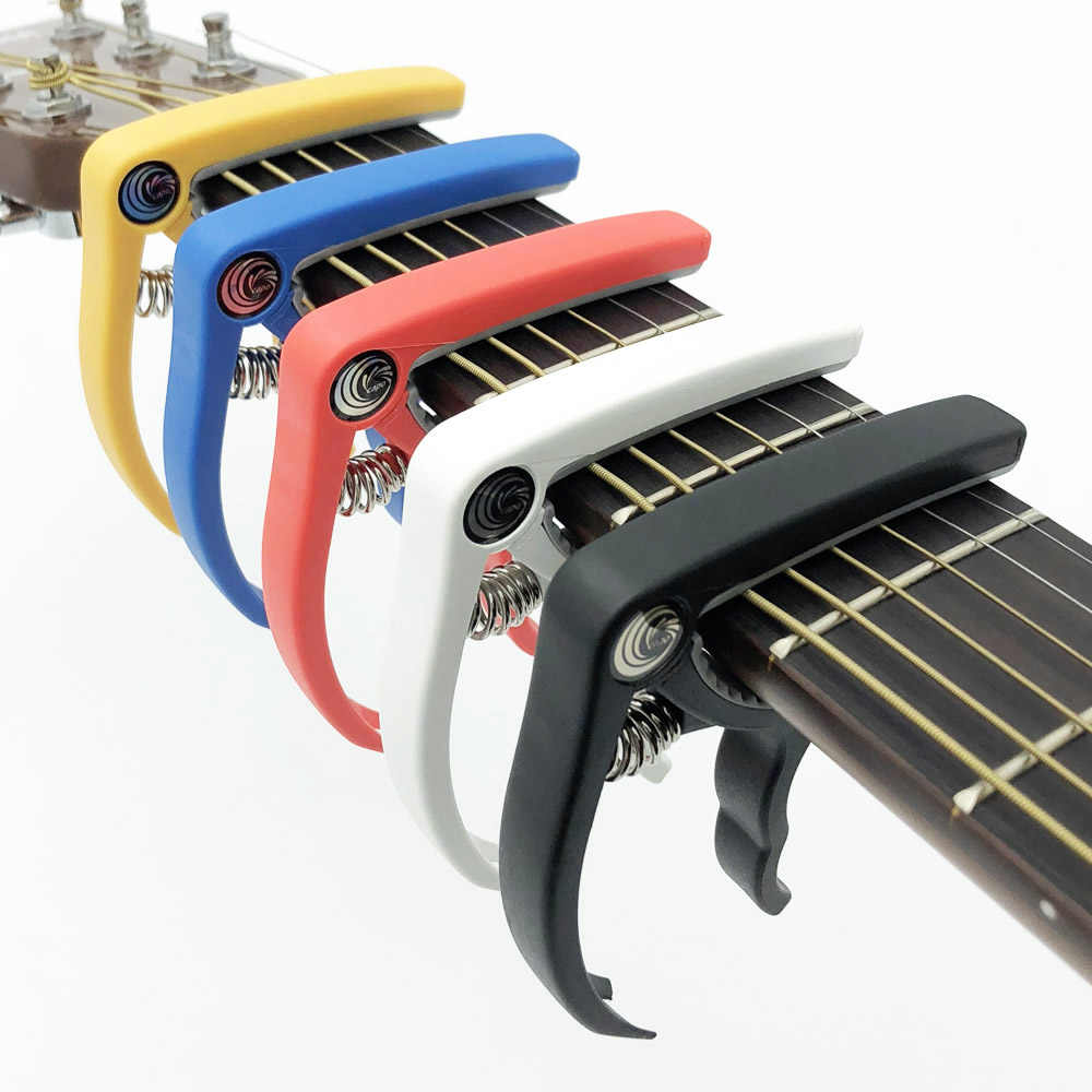 SLOZZ Plastic Guitar Capo for 6 String Acoustic Electric Guitarra Bass Ukulele Tuning Clamp Capotraste Violao Accessories