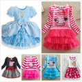 New Cinderella baby Girl Dress Pig Character Pattern Princess Dresses girl clothes for party Christmas costume vestido infanti