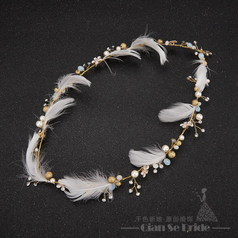Gorgeous-feather-headband-women-crystal-pearl-jewelry-forehead-hair-ornaments-crown-Gold-plated-wedding-accessories-tianlai
