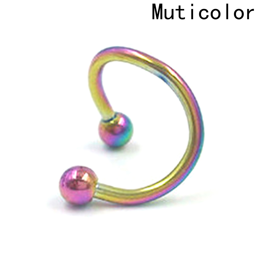 New 1Pc Stainless Steel Lip Nail MUTI- Colors Nose Ring Ear Bone Nail Jewelry For Women Personality Body Jewelry