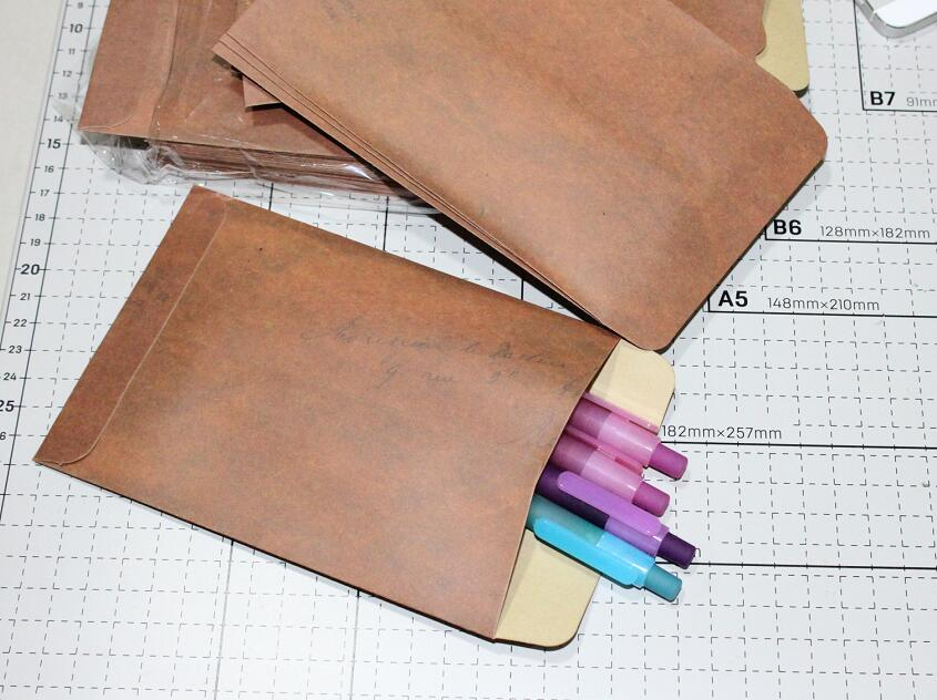 108*165mm Vintage Brown Kraft Paper Envelope For Wedding Invatation  Postcard Gift Wrapping 10/50/100pcs