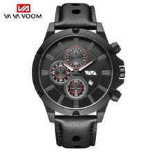 Military Quartz Men's Watches Sports Comfortable Breathable Leather Wristwatch Waterproof Date Watches Dropshipping reloj hombre sousou faux leather date couple watches