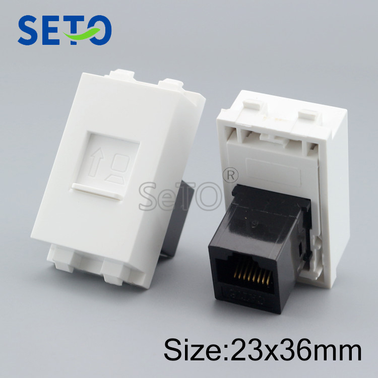 Gigabit RJ45 Cat6 Network Lan Module RJ45 Network Connector Wall Plate Socket