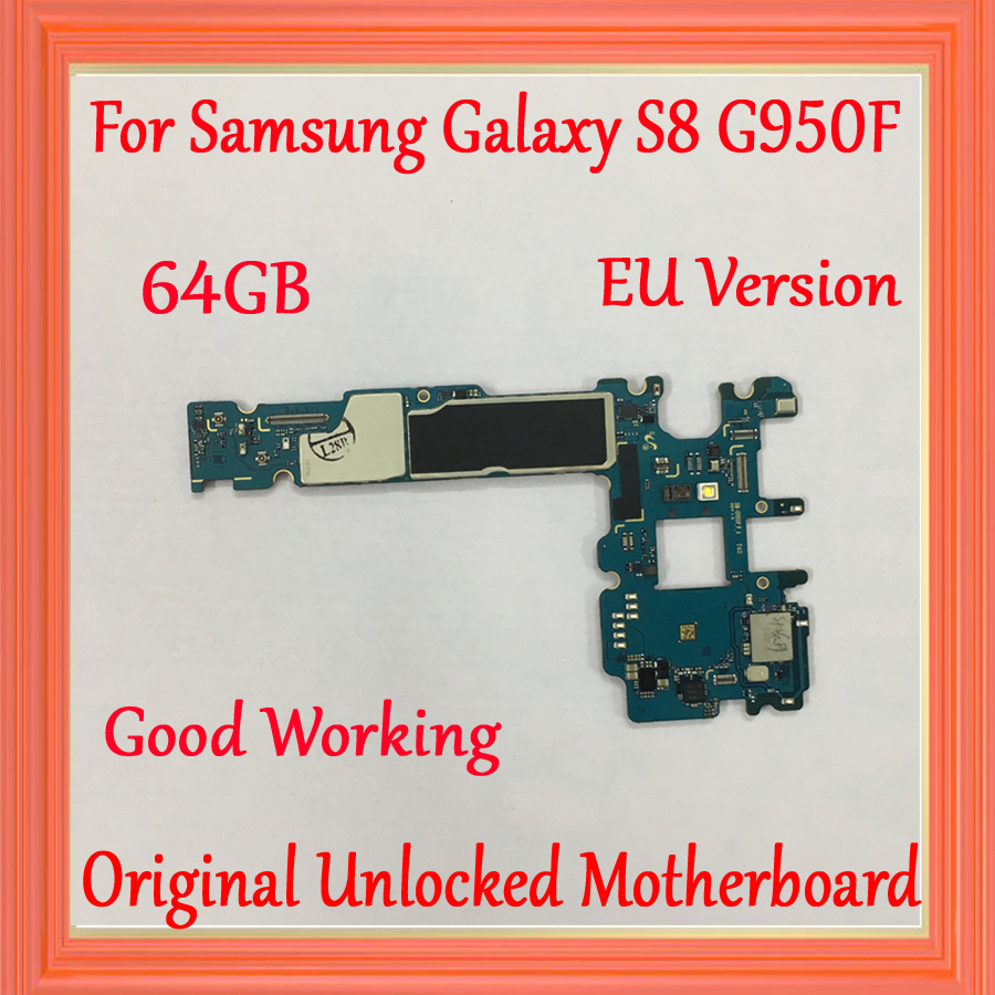 For Samsung Galaxy S8 G950F Motherboard 64GB with Android System EU Version Original unlocked for Galaxy S8 G950F Logic board For Samsung Galaxy S8 G950F Motherboard 64GB with Android System EU Version Original unlocked for Galaxy S8 G950F Logic board