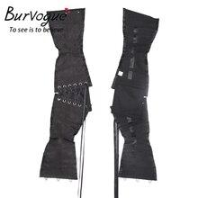 Burvogue Waist Trainer Corsets Slimming Shaper Belt Short Torso Satin Underbust Corset Sexy Lace Up Bustiers & Corsets Women