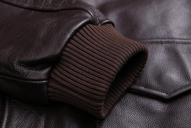 HTB1cinTXh rK1RkHFqDq6yJAFXa9 MAPLESTEED Men Leather Jacket Military Pilot Jackets Air Force Flight A2 Jacket Black Brown 100% Calf Skin Coat Autumn 4XL M154
