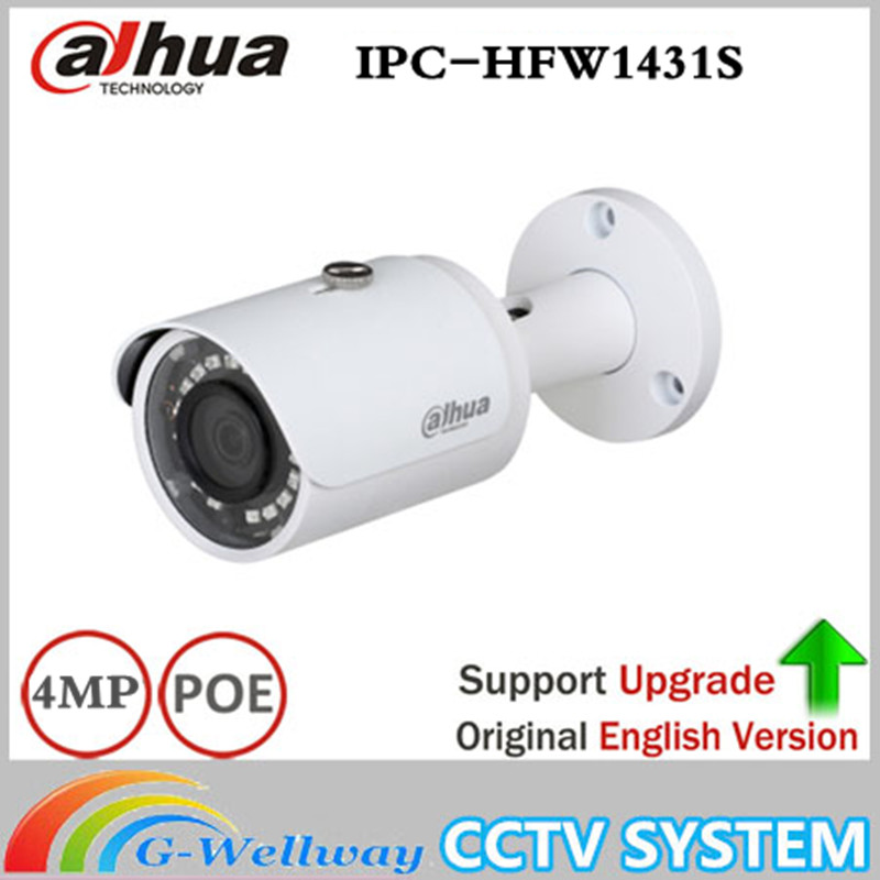 ahua IPC-HFW1431S 4MP Mini Bullet IP Camera Night Vision 30M IR CCTV Camera POE IP67 WDR Security update from IPC-HFW1320S цена