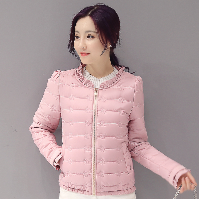 2019 winter women basic jacket zipper female coat autumn spring ladies outerwear short girls cotton padded jaqueta feminina