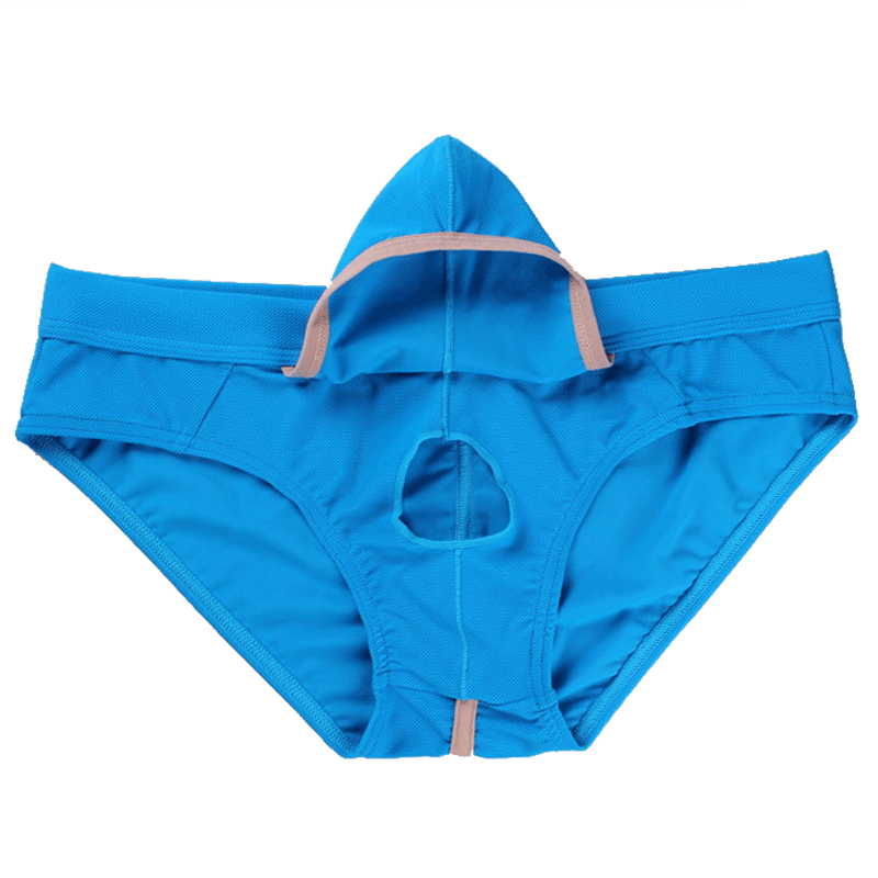 Underwear Men Panties Briefs Open-Penis-Pouch WJ Low-Waist Spandex XXL Brand Remove-Cover-Bag title=
