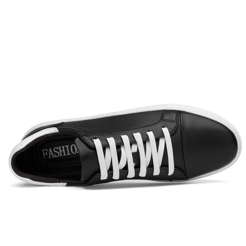 Del blanco Tenis Zapatillas Hombres Cómodos Northmarch Casual 2018 Tamaño Hombre Grande Cuero Genuino Zapatos Negro qX6A6wnv