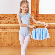 dance dress Ballerina lace tank ballet leotard with rosette skirt kids dancewear for girls costume