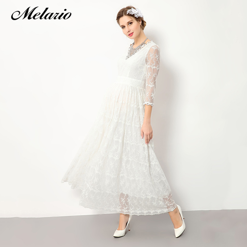 Melario Maternity dress 2018 Maternity Photography Props Maternity Dress V-Neck Lace Summer Women Clothes Pregnant Dress