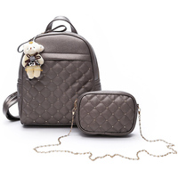 New Soft PU Leather Women Backpack Fashion Girl School Bag Good Quality Lady Bags Simple Style