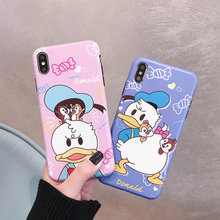Cartoon Doraemon Donald Duck Winnie Pooh Phone Case For iPhone X XS XR XS Max Case For Capa iPhone 6 6s 7 8 Plus Soft Back Cover цена