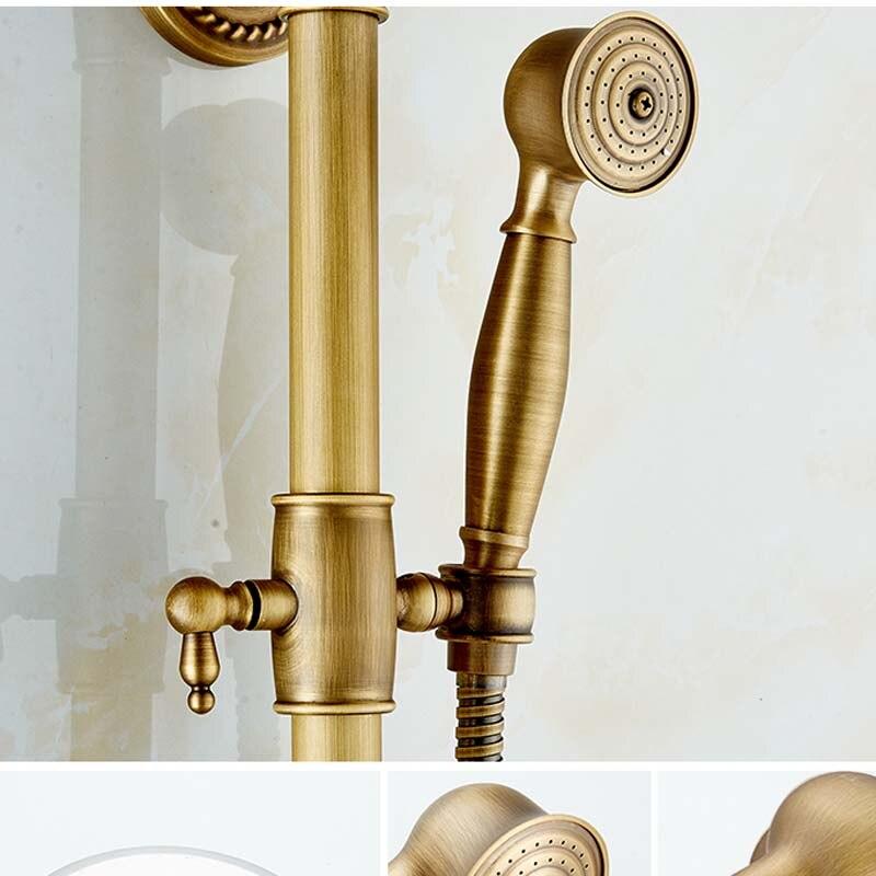 Antique Brass Creative Bath Shower Faucet Single Handle Soap Holder ...