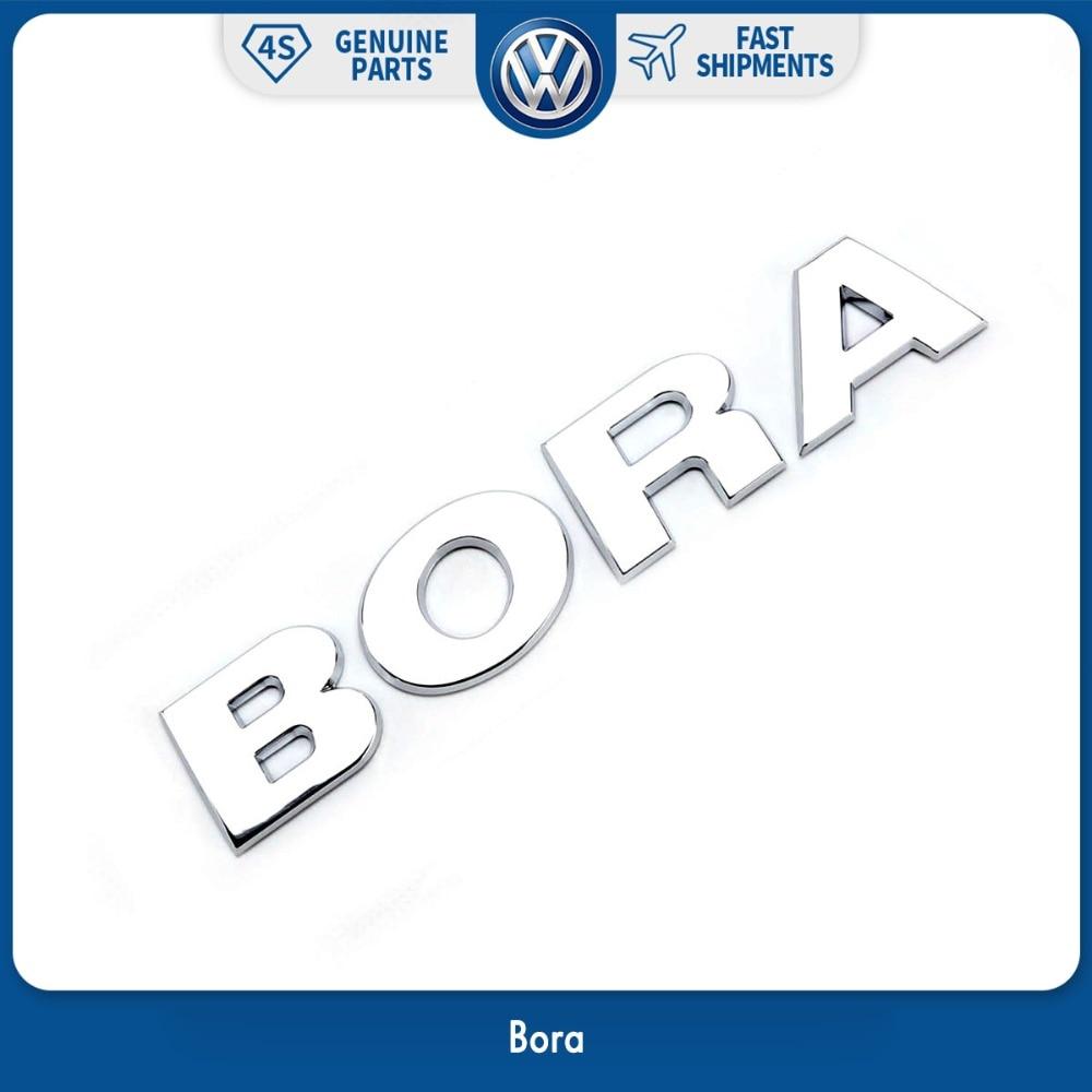 Chrome OEM Trunk Lid Bora Letter Words Decal Badge Emblem Sticker for VW Volkswgen Bora 100mm oem rear trunk lid badge emblem chrome logo car sticker for vw volkswagen jetta mk6 vi polo passat variant 5c6 853 630 ulm