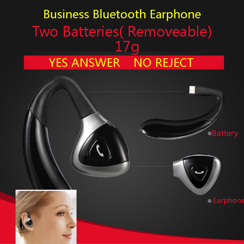Business Bluetooth Earphone Headphones Wireless Headset with Microphone for Mobile phone Hands free xiaomi Super Bass Head Set