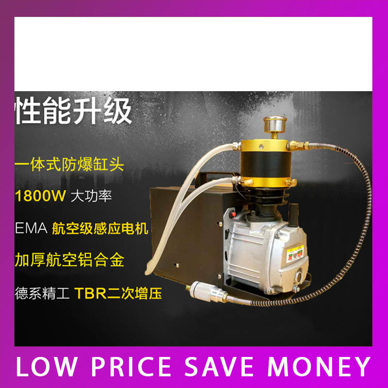 1.8KW Single Cylinder 30MPA Water-cooled High Pressure Air Pump 220V Electric Explosion Proof Air Compressor 1 pcs lot 30mpa air compressor 220 v 50hz high pressure air pump electric cylinder 2800r min high pressure air pump